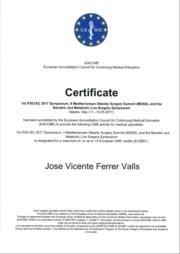 Certificado IFSO 2017