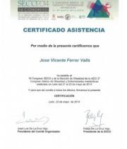 Certificado-asistencia-Congreso-SECO2014-Dr.Ferrer