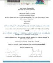 Certificado-comunicacion-sangrado-pie-sasa-SECO201-Dr-Ferrer
