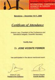 Conferencia Avances Cirugía 2008