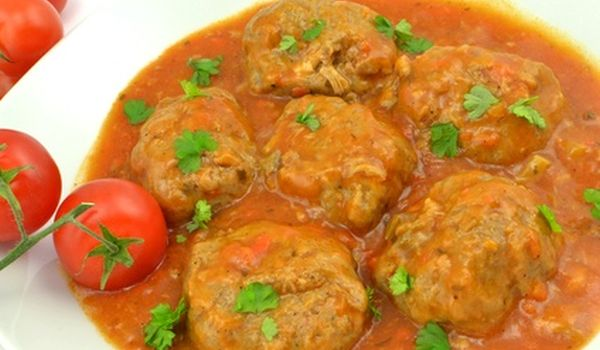 Alb ndigas de pollo pavo en salsa de verduras - Albondigas de verdura ...