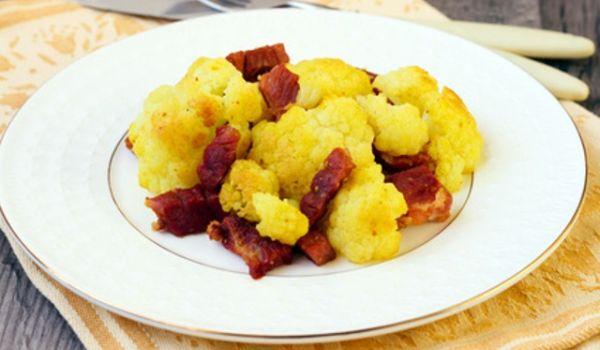 Coliflor con jamón