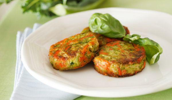 Receta saludable de hamburguesa de verduras y patata - Hamburguesa de verduras ...